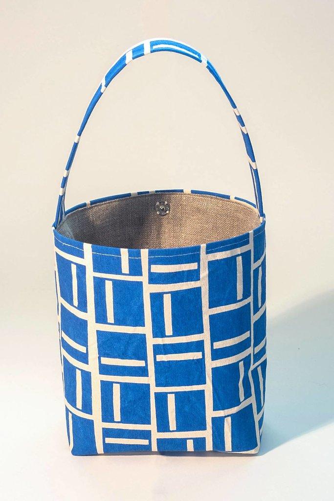 Rutor Väska - Himmelblå